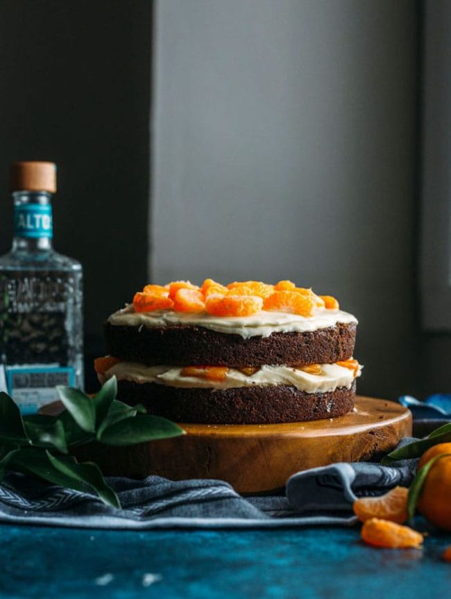 Chocolate Cake with Tequila Orange Icing