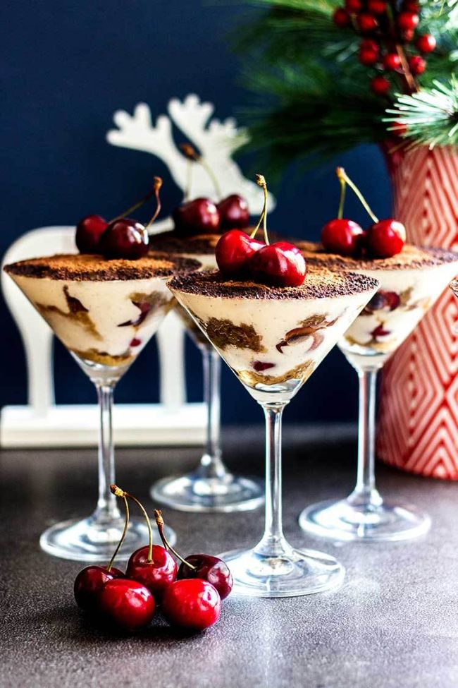 Tiramisu with Kirsch and Cherries