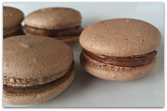 Chocolate Amaretto Macarons