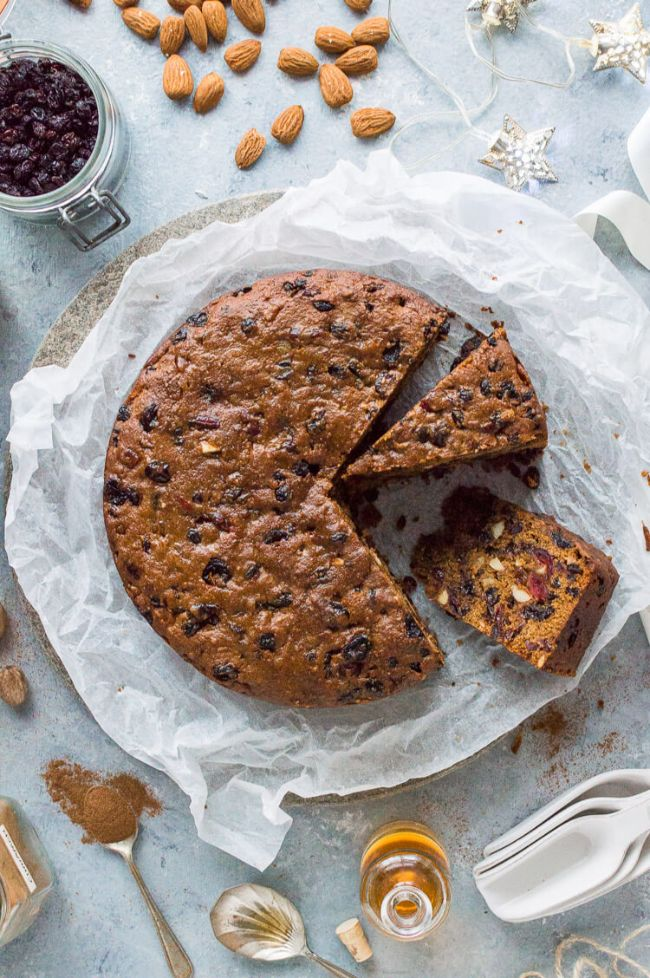 Christmas Fruit Cake (with rum or brandy)