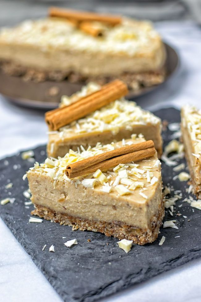 Cinnamon White Chocolate Cheesecake