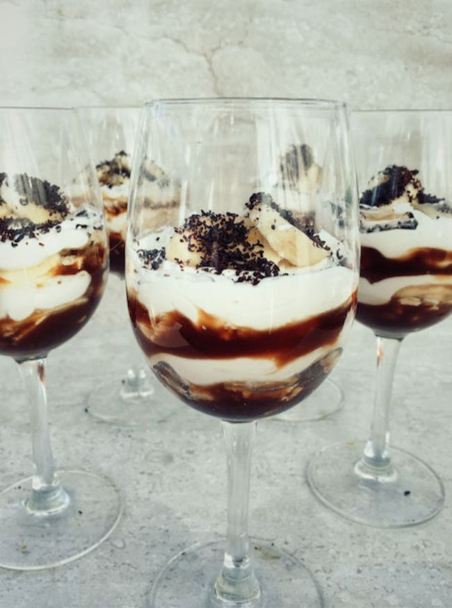Deconstructed Banoffee Pie Parfait
