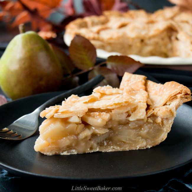 Maple Ginger Pear Pie