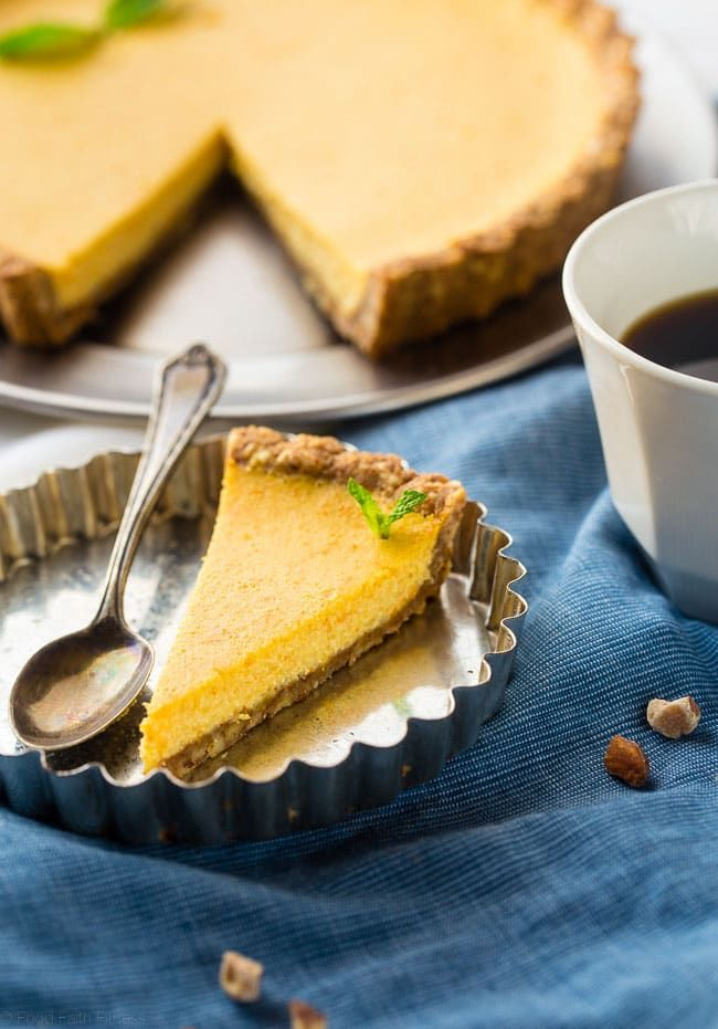 Orange Pie with Almond Crust