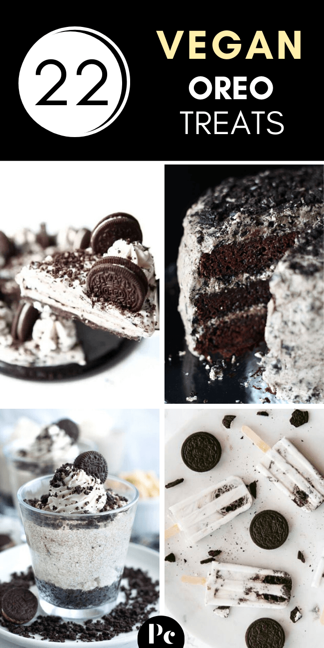These Vegan Oreo Desserts are made with a LOT of chocolate sandwich cookies. ;-) Treat yourself to these dairy-free cakes, cheesecakes, cupcakes, brownies and more recipes. | Plantcake #vegan #veganrecipes #oreo