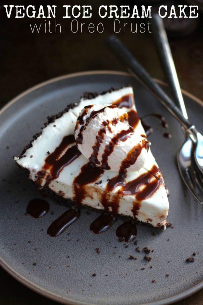 Ice Cream Cake with Oreo Crust