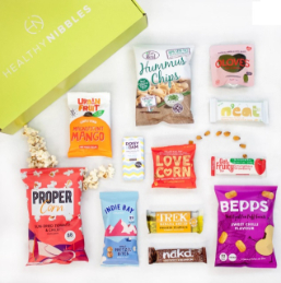 vegan snack box - Healthy Nibbles