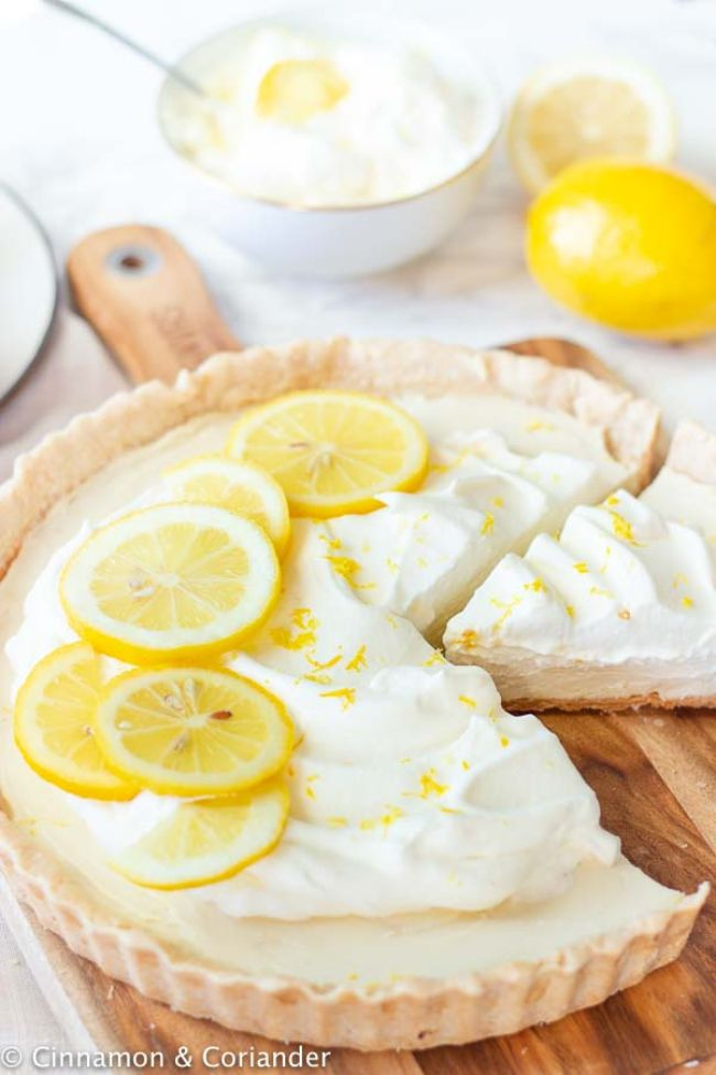 Lemon Tart with Coconut Whipped Cream