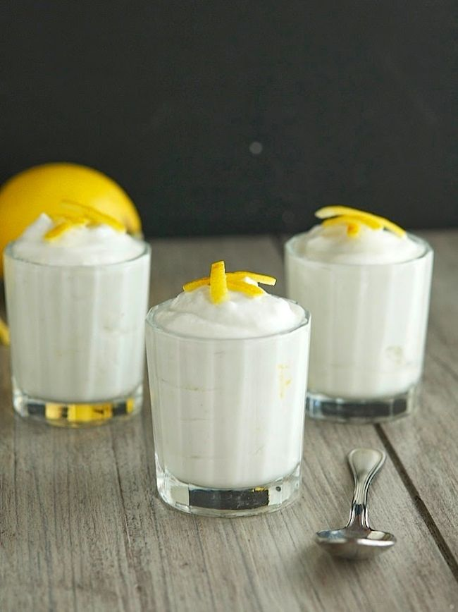 Raw Coconut Lemon Mousse