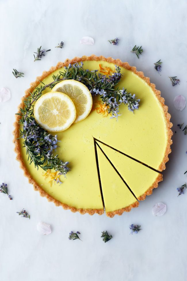 Rosemary Lemon Tart