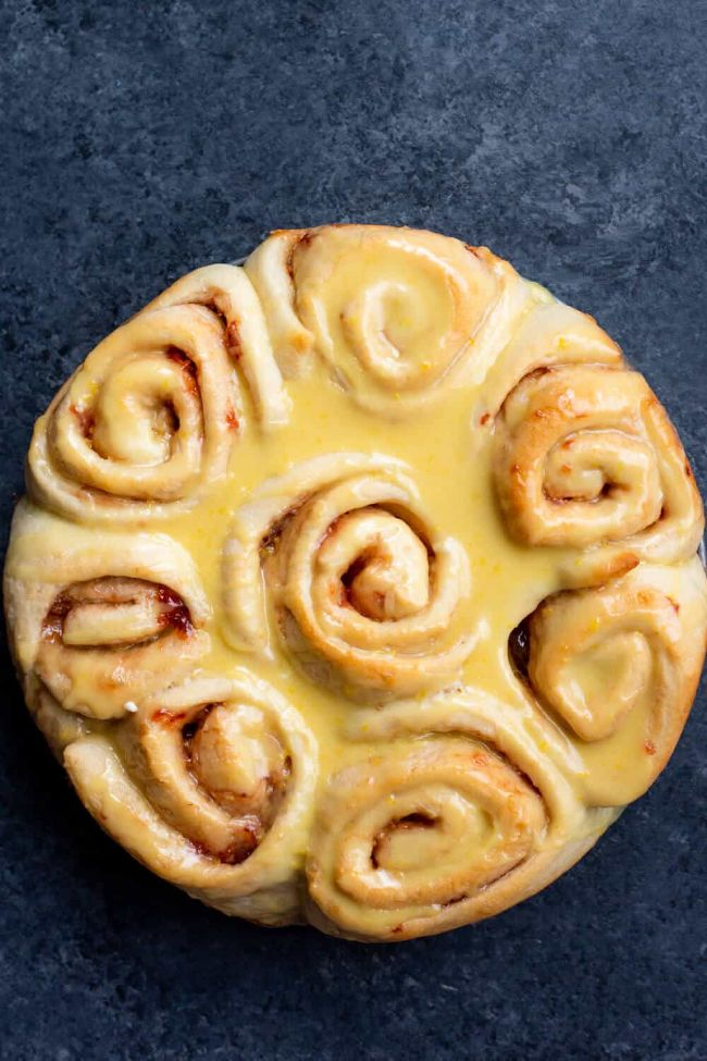 Strawberry Lemon Sweet Rolls