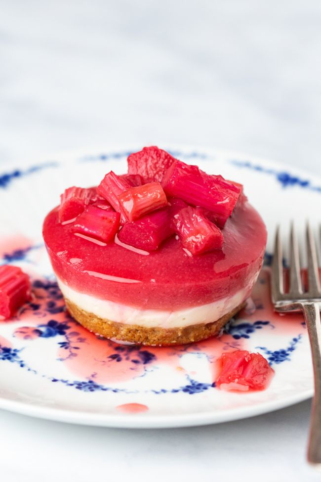 Rhubarb and Ginger Cheesecakes