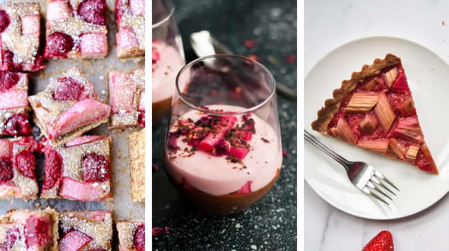 vegan rhubarb recipes for Spring