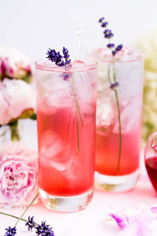 Blackberry Lavender Gin and Tonic
