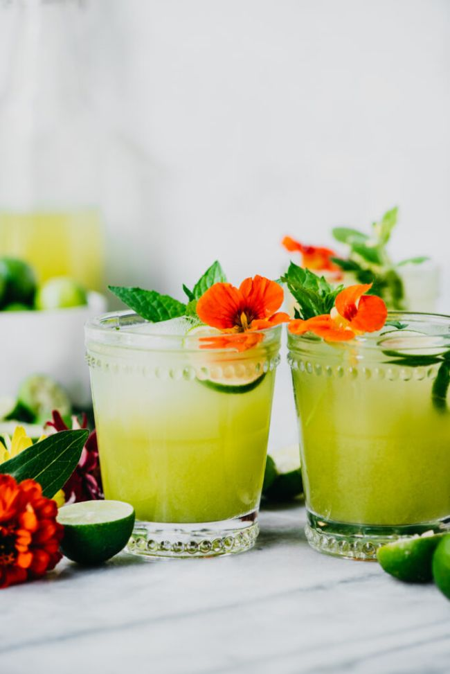 Key Lime Cucumber Gin Cocktail