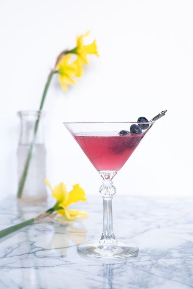 Blueberry Elderflower Martini