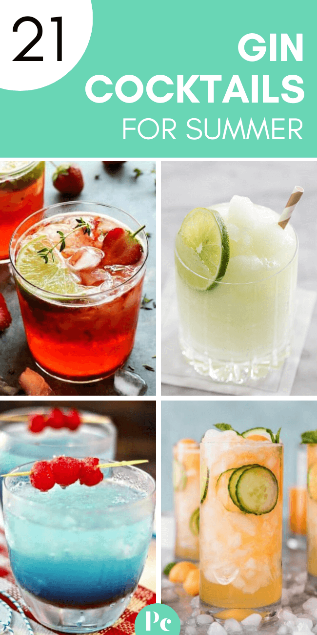 These fruity Gin Cocktails for Summer are the perfect refreshing vegan alcoholic party drinks for hot days and evenings. Easy recipes with lime, mint, berries and more. | Plantcake #vegan #veganrecipes