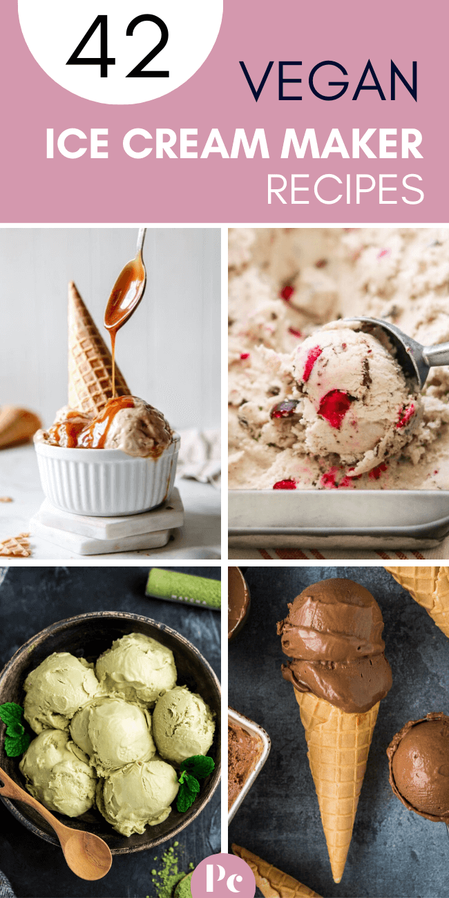 These tasty Vegan Ice Cream Maker Recipes make the absolute creamiest, homemade and dairy-free Summer treats! Clear out your freezer, get your machine ready and GO CHURN! | Plantcake #vegan #veganrecipes