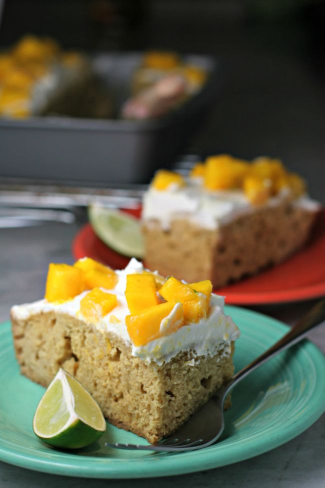 Mango Lime Tres Leches Cake