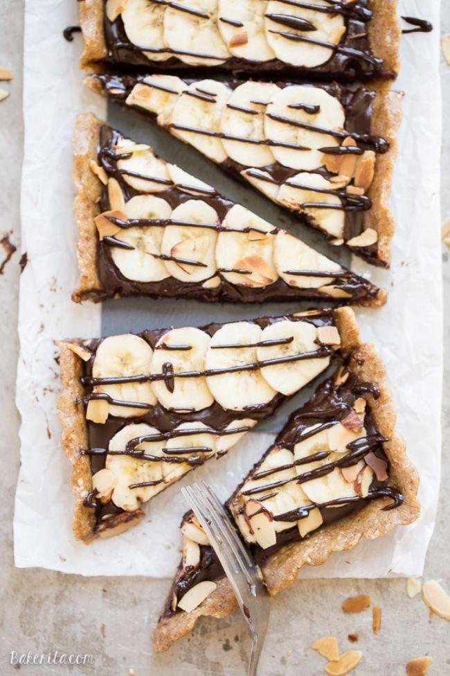Chocolate Banana Tart