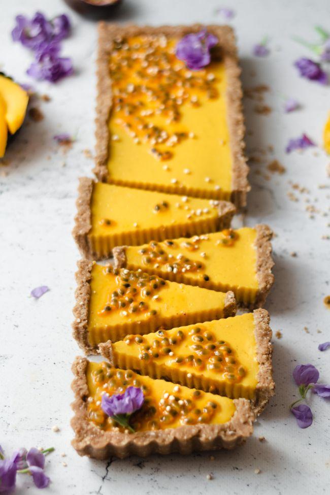 Mango & Passion fruit Tart
