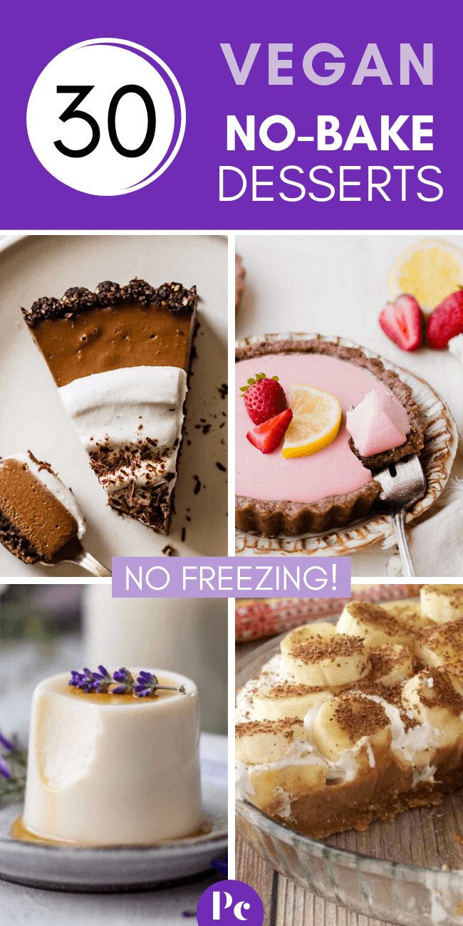 No oven? No problem! These insanely yummy Vegan No-Bake Dessert Recipes are done without one. Also, no freezing and thawing! Enjoy your treats effortlessly. | Plantcake #vegan #veganrecipes