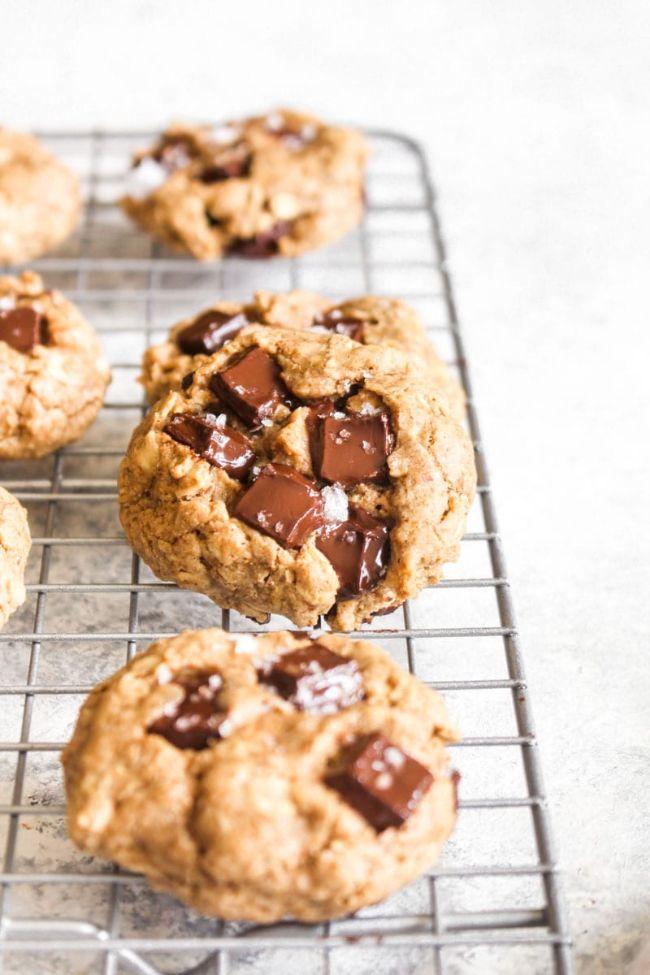 Dark Chocolate Oatmeal Cookies