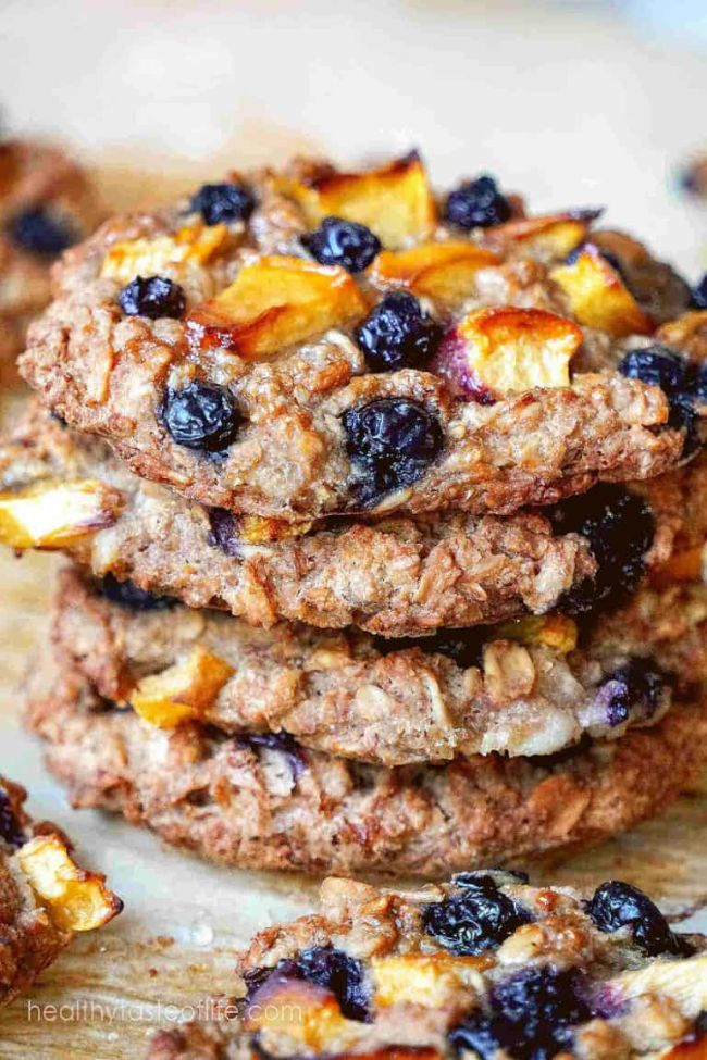 Blueberry Peach Oatmeal Cookies