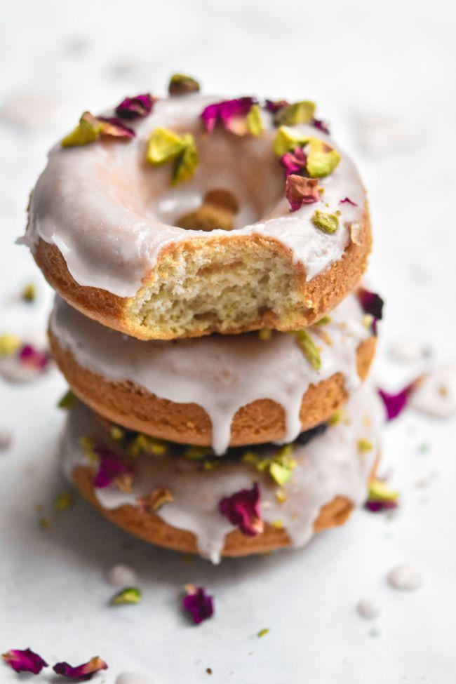 Rose Pistachio Donuts