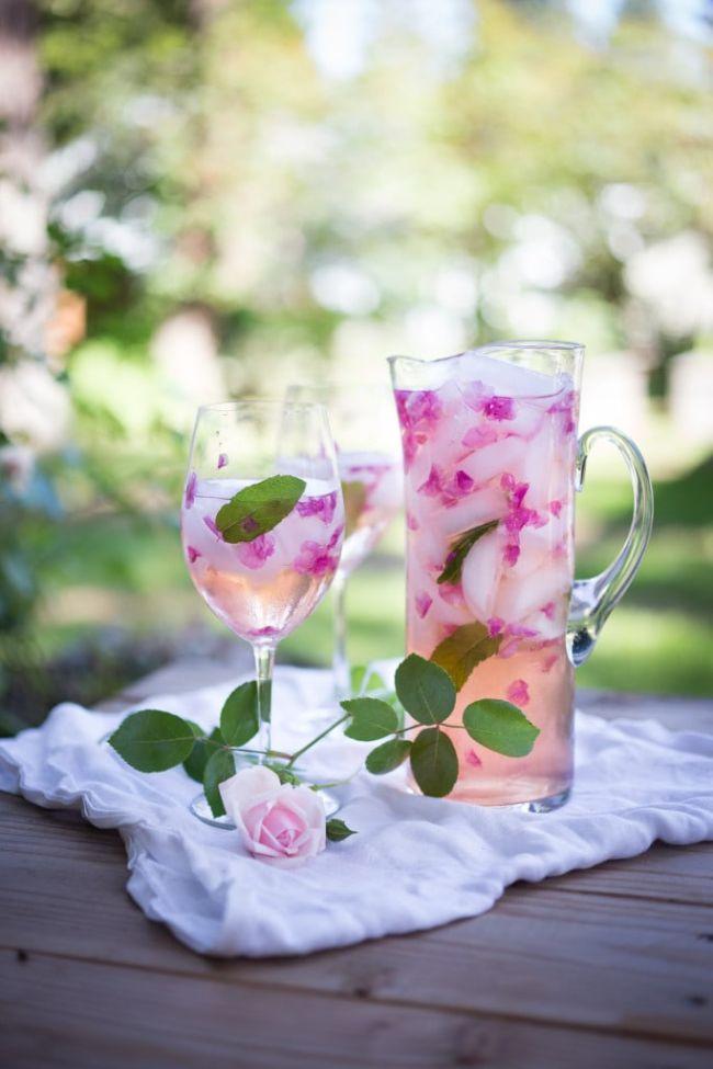 Wild Rose Petal Sangria