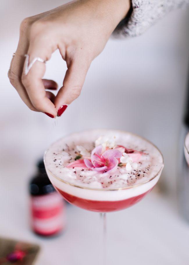 Lavender, Rosewater, Hibiscus Spritz Cocktail