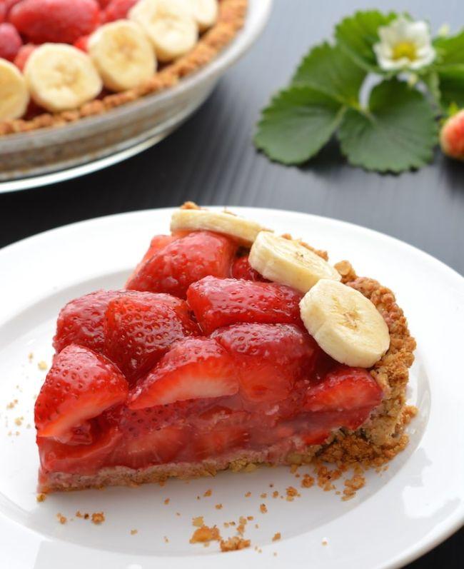 Strawberry Pie (with Walnut-Oat Crust)