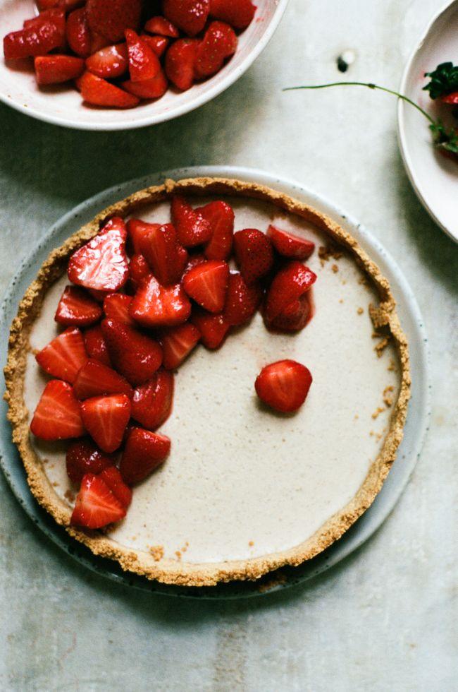 Strawberry Vanilla Custard Tart