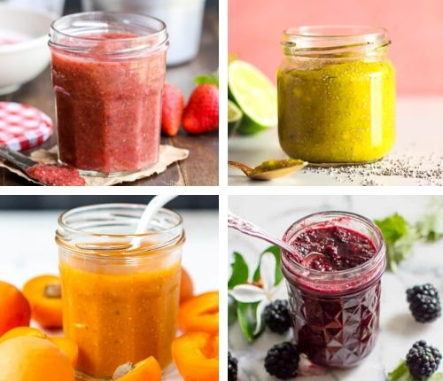 healthy chia jam recipes - vegan