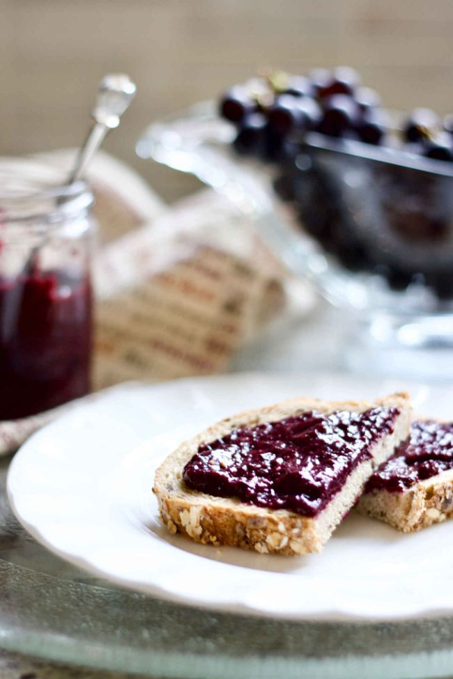 Raw Concord Grape Chia Jam