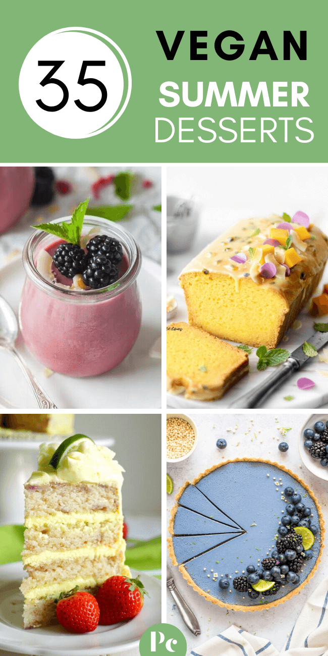 These Vegan Summer Dessert Recipes are fresh and fruity - the perfect way to enjoy seasonal produce on those hot days. Take these tasty treats with you to any potluck or garden party or just enjoy them at home by yourself (it's fine if you don't want to share;-) ). | Plantcake #vegan #veganrecipes