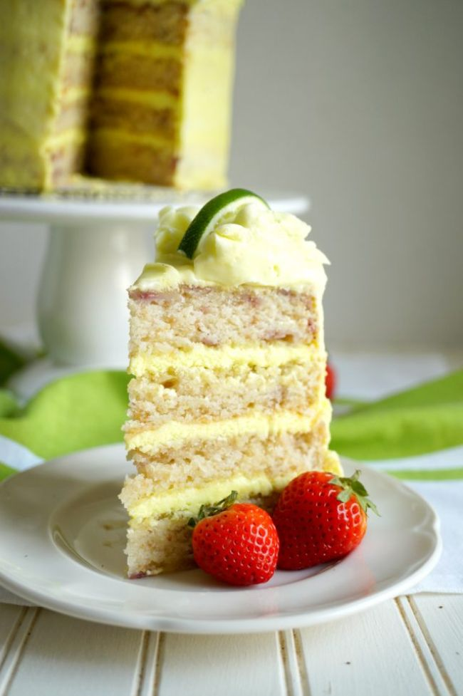 Strawberry and Lime Cake