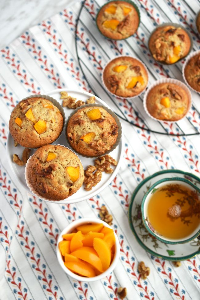 Peach Walnut Muffins