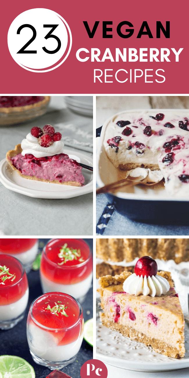 vegan cranberry recipes for dessert